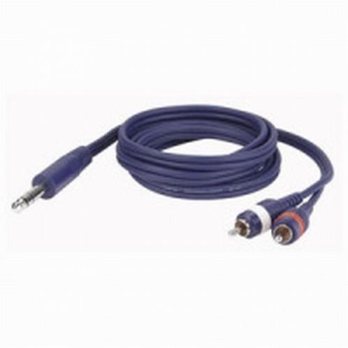 DAP FL35 150 Signaalkabel 2x Tulp Male - 1x Stereo Jack. 1,5