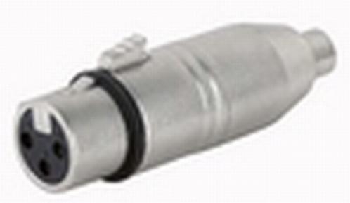 DAP FLA33 verloopstekker XLR F. 3p. / Tulp F.