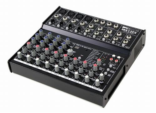 INVOTONE MX12FX live mixer met fantoomspanning