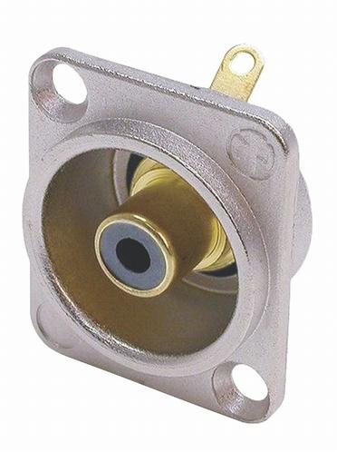 Neutrik RCA/TULP chassisdeel ZWART