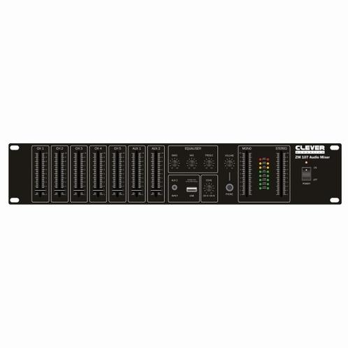 "CLEVER Acoustics ZM 107 19"" Rackmount Audio Mixer"