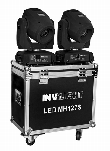INVOLIGHT 2x LED MH127S 127W Spot LED Movinghead set + case