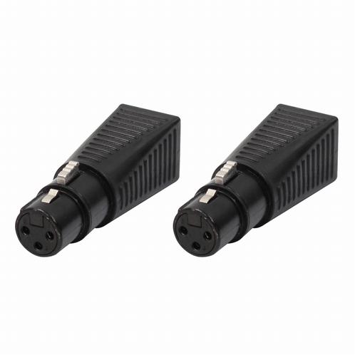 LEDJ XLR female 3 pin naar RJ45 verloop (2x)