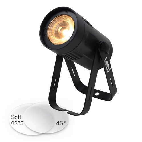 LEDJ Event Spot - Dim to Warm MKII - zwarte Behuizing