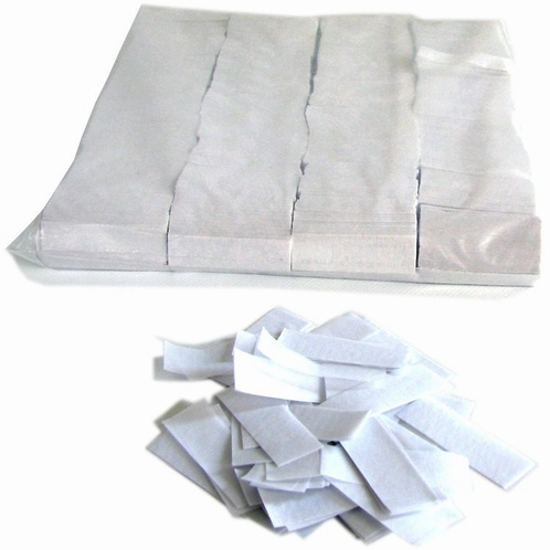 MAGIC FX Confetti Papier 55x17mm - Wit (zak 1 kg.)