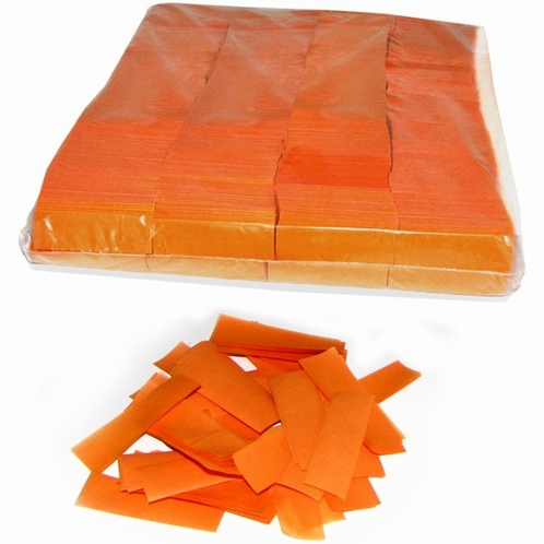 MAGIC FX Confetti Papier 55x17mm - Oranje (zak 1 kg.)