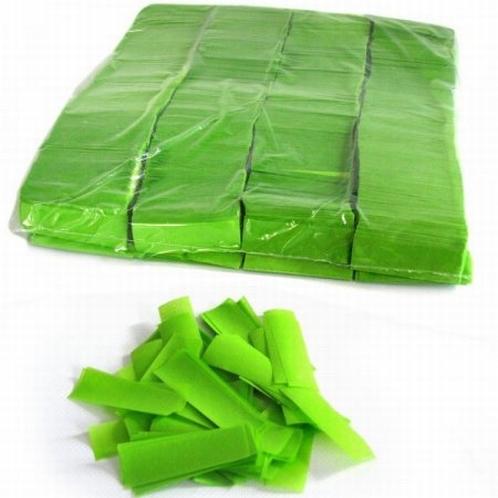 MAGIC FX Confettti Papier 55x17mm - Fel Groen (zak 1 kg.)