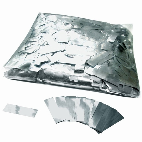 MAGIC FX Confetti Metallic 55x17mm - Zilver (zak 1 kg.)