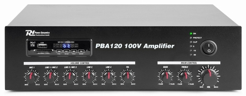 POWER DYNAMICS PBA120 Versterker 120W op  240V en 24V