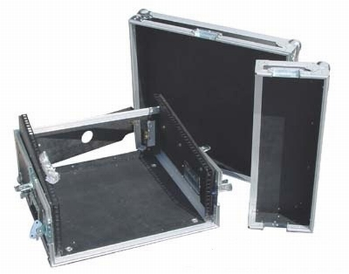 ROAD READY 10u Slant mixer rack / 3u verticaal rack
