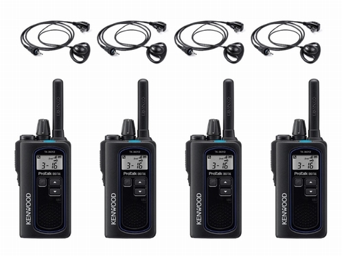 KENWOOD TK-3601D Compacte Digitale Portofoon set (4x)