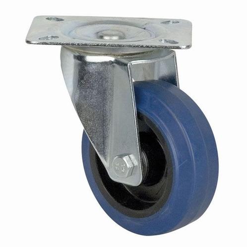 DAP D8001 Blue Wheel 100 mm Ongeremd, Zwenkwiel