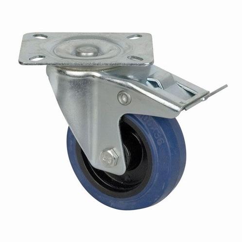 DAP D8002 Blue Wheel 100 mm Geremd, Zwenkwiel
