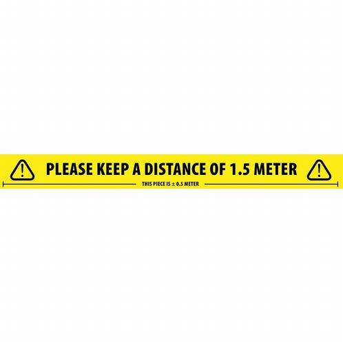 ADAM HALL 58067ENG Tape Social Distance - Engels - 66 mt