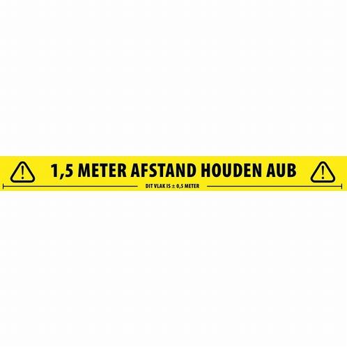 ADAM HALL 58067DUT Tape Social Distance - Nederlands - 66 mt