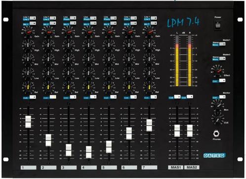 DATEQ LPM 7.4 7-kanaals Installatie en DJ mixer