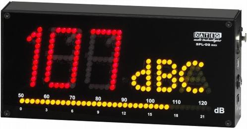 DATEQ SPL-D2 Geluidsdruk meter A, F, C-karakteristieken