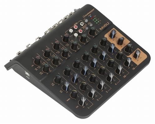AUDIOPHONY Mi6U  - 6 kanaals mixer: 4 mic+2 Stereo+Aux+USB