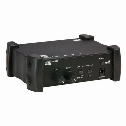 DAP PRE-202 Microfoon Voorversterker 2 gescheiden kanalen
