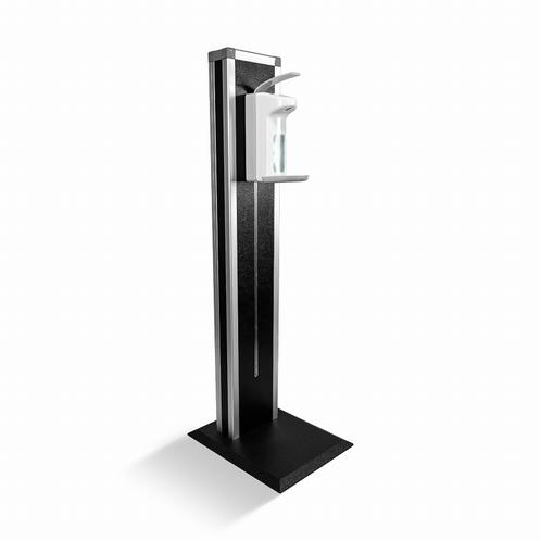 ADAM HALL DSTAND Luxe Standaard met pomp - Zwart