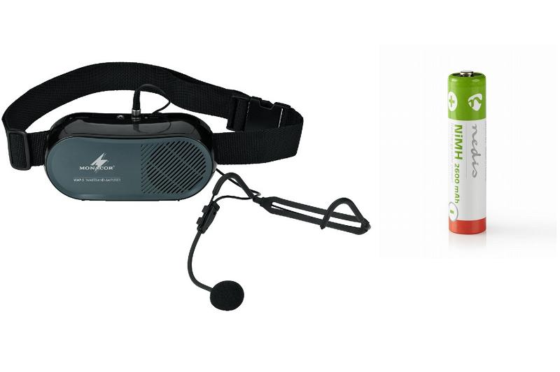 MONACOR WAP-5 Taille speaker, headset, 6 Oplaadb.batterij