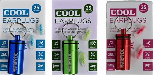 COOL EARplugs -25dB demping - maat: normaal