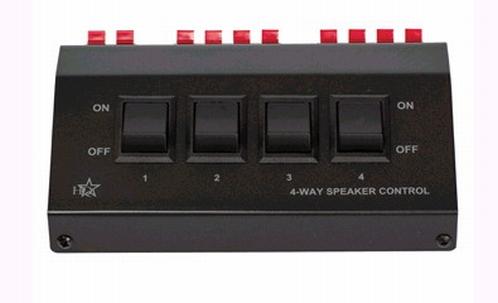 HQ PRE SWITCH-4 Speakercontrol Box 4-weg switch