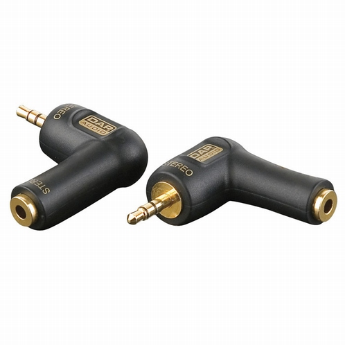 DAP XGA08 mini-jack/M stereo to mini-jack/F, 90 graden