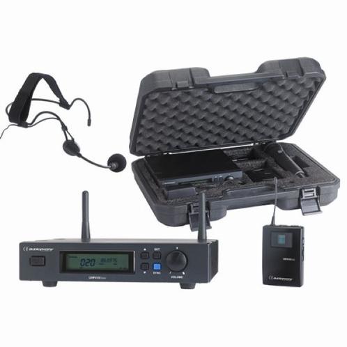 Audiophony UHF410 set ontvanger + headsetmicrofoon + beltpac