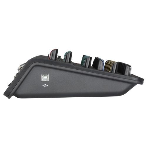 AUDIOPHONY Mi4U - 4 kanaals mixer: 2 mic+2 Stereo+1 Aux+USB