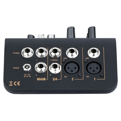 AUDIOPHONY Mi3 - 3 kanaals mixer: 2 mic. / 1 stereo input