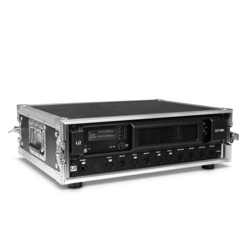 LD SYSTEMS DSP 45 K RACK: 4-kanaals Amp in 19S rack met patc
