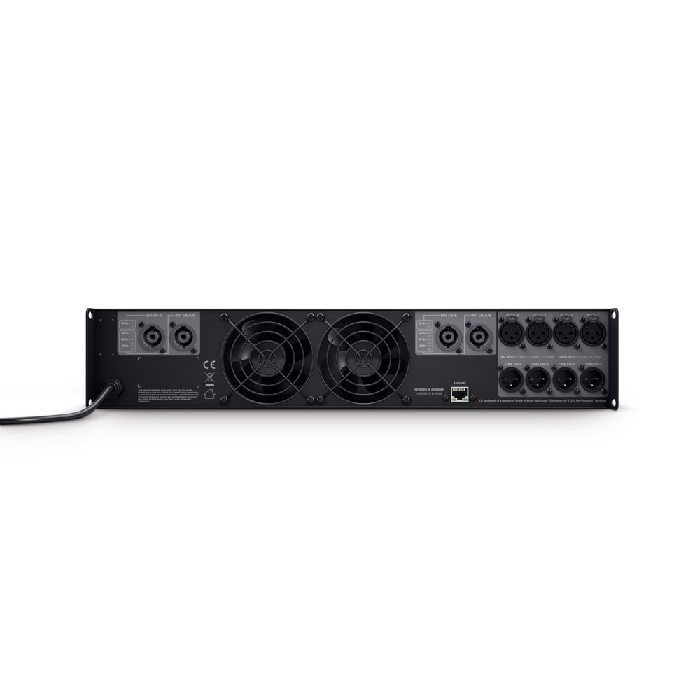 LD SYSTEMS DSP 45 K: 4-kanaals Power Versterker met DSP