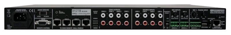 APART Audio ZONE4 4-zone voorversterker: 4 stereo uitgangen