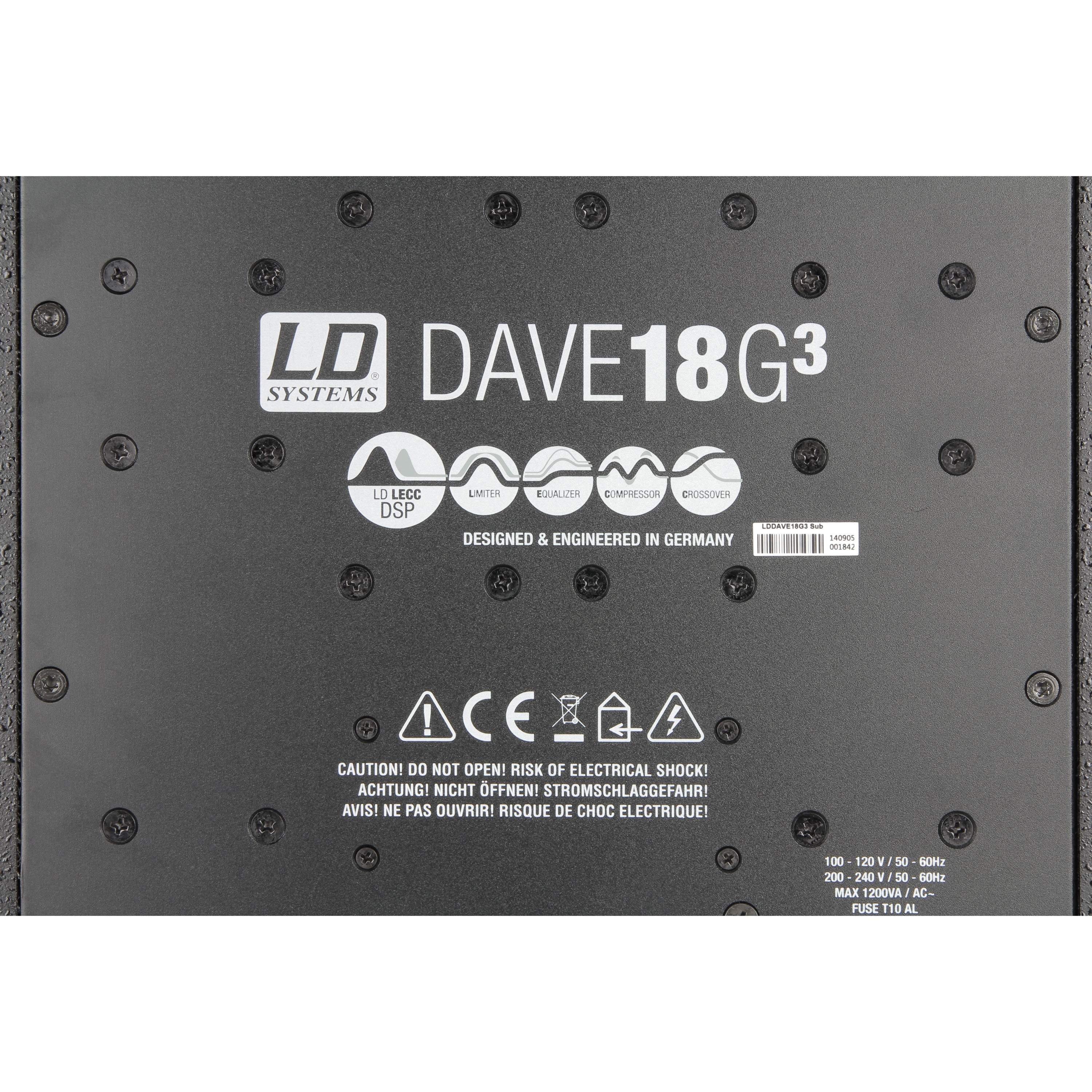 LD SYSTEMS DAVE 18 G3: compact18S actief systeem (1200W RMS)