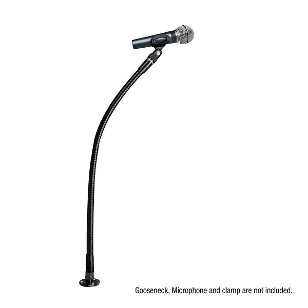 ADAM HALL D921BLK Montage Plaat Zwanenhalsmicrofoon