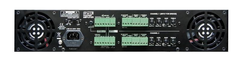 APART Audio PA2240BP 2 x 240W/100V Brugbaar 1x480W/100V