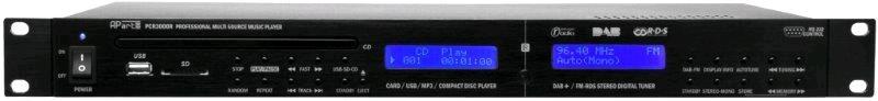 APART Audio PCR3000R MKII DVD/CD/USB/SD Speler en FM Tuner