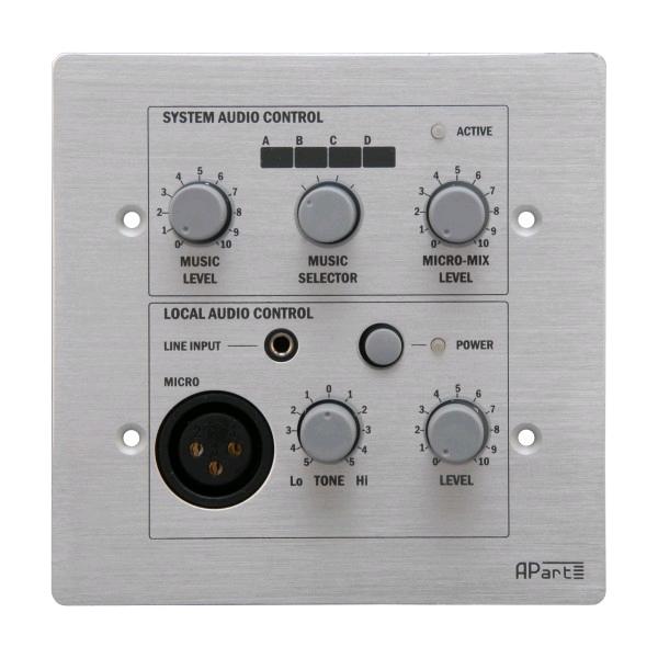 APART Audio PM1122RL bedieningspaneel met XLR/Jack PM1122