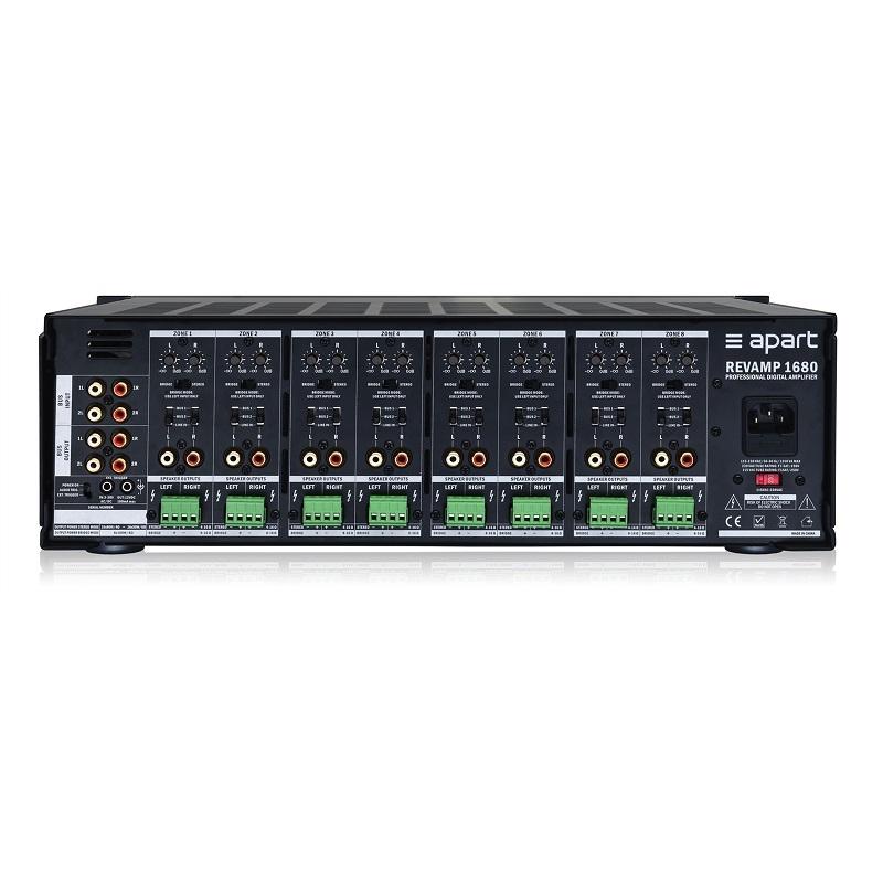 APART Audio Revamp1680 16-kanaals versterker 16x80W / 4 Ohm