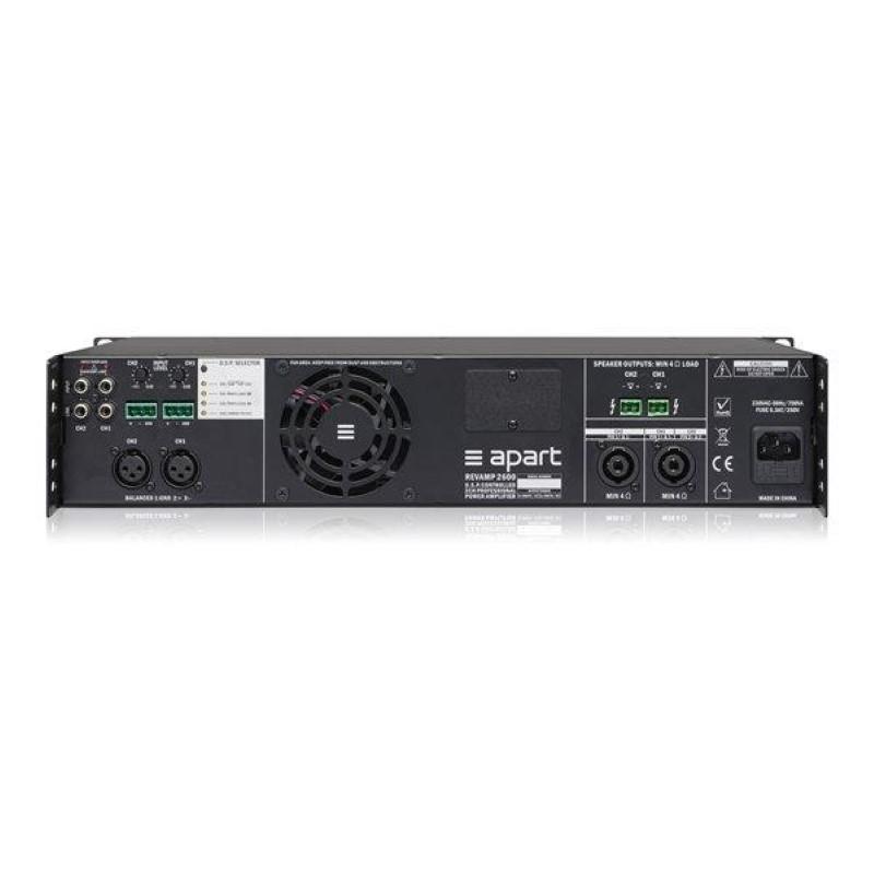 APART Audio REVAMP2600 2-kanaals versterker 2 x 600W/4 ohm