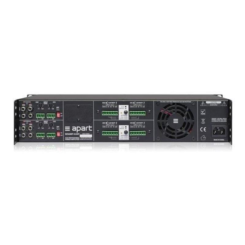 APART Audio REVAMP4120T 4-kanaals versterker 4x120W/100V