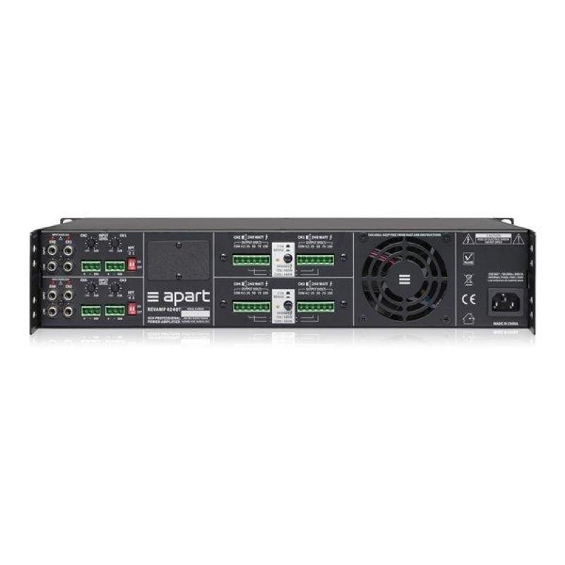 APART Audio REVAMP4240T 4-kanaals versterker 4x240W/100V