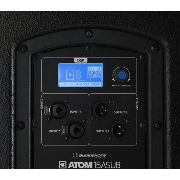 """AUDIOPHONY ATOM 15A SUB 15"""" 600W RMS subwoofer"""