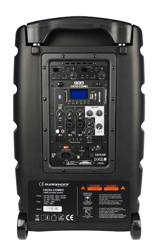 AUDIOPHONY CR25A COMBO 12S 250W mobiele geluidsinstallatie