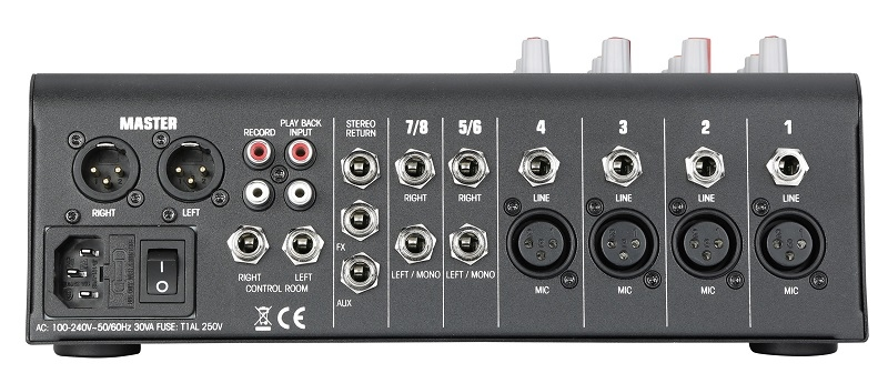 AUDIOPHONY MPX8 - 8 kanaals mengpaneel