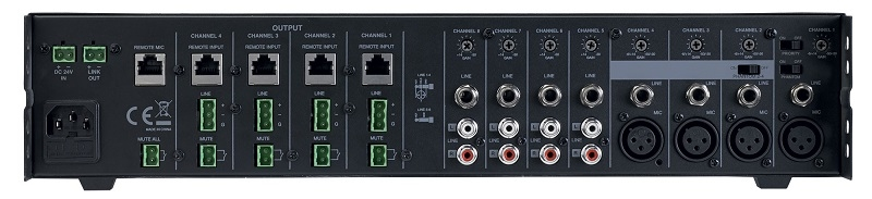 AUDIOPHONY Prezone 444 Mixing Desk 8 kanaals 4 output zones