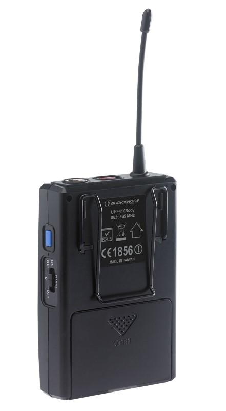 AUDIOPHONY UHF410 Add on Beltpackzender