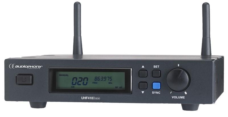 AUDIOPHONY UHF410 set ontvanger + handheldmicrofoon
