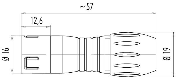 BINDER Kabeldeel 720 serie Male 5-polig (IP67)